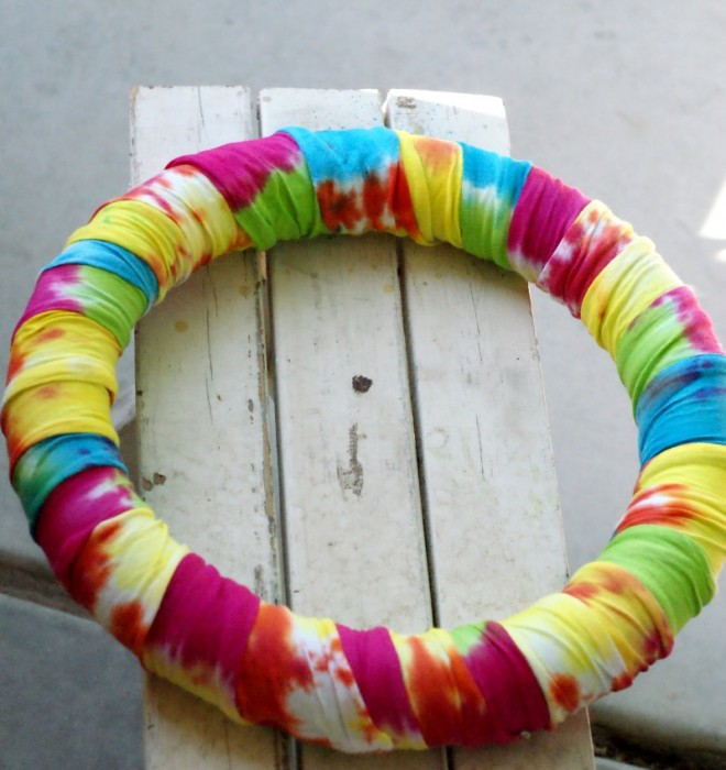 Tie Dye Summer Wreath