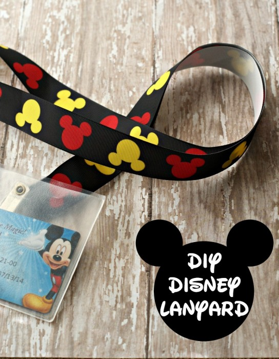 DIY Disney Lanyard with Mickey Mouse Ribbon