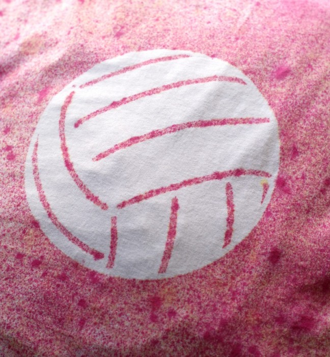 Volleyball Stencil with Cricut