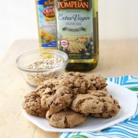 Chocolate Chip Oatmeal Cookies with Olive Oil