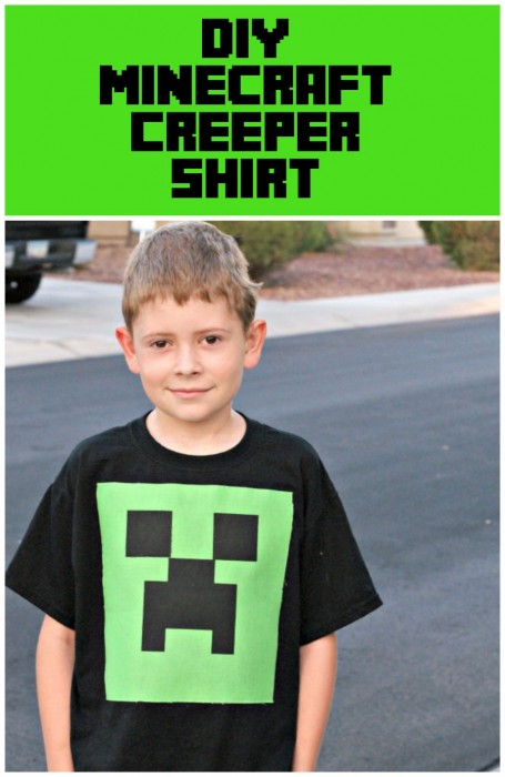 DIY Minecraft Creeper Shirt ~ Less than $5 to make!