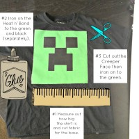 DIY Minecraft Creeper Shirt