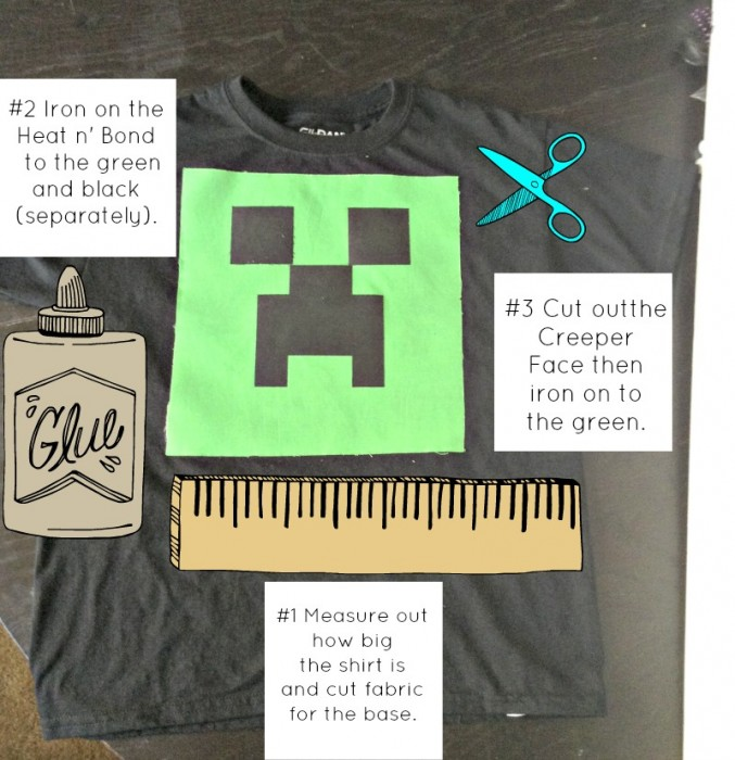 How To Make a Minecraft Creeper Shirt