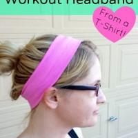 DIY Upcycled T Shirt Workout Headband