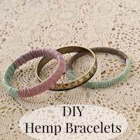 DIY Hemp Bangle Bracelets