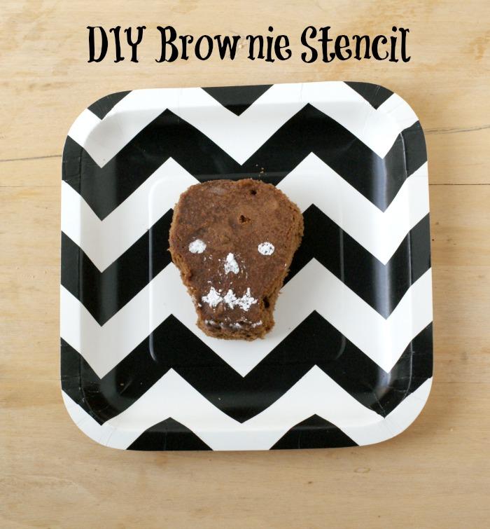 DIY Brownie Stencils