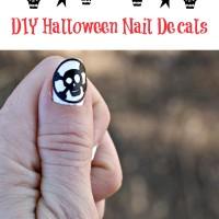DIY Halloween Skeleton Nail Decals