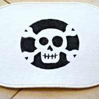 Ikea Hack: DIY Skeleton Screen Print Rug