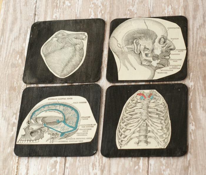 DIY Vintage Book Coasters