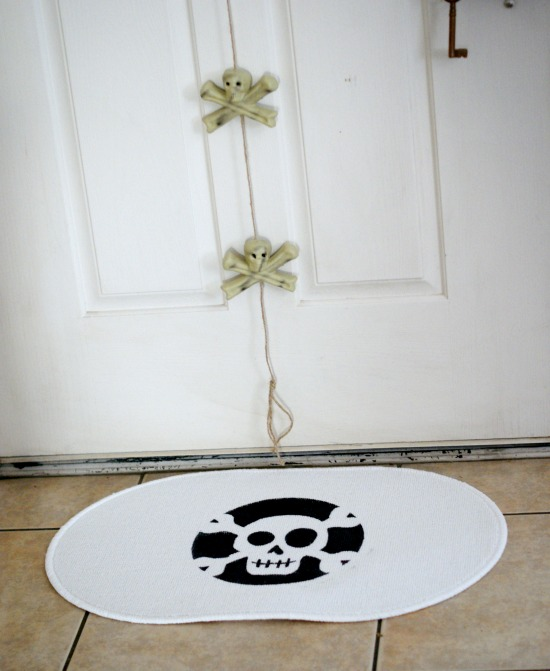 DIY Skeleton Rug, less than $5 to make