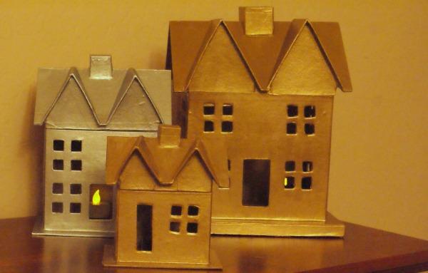 Paper Mache Village