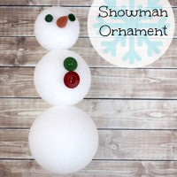 Easy Snowman Ornament Craft for Kids