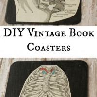 DIY Vintage Book Page Coasters