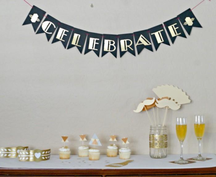 Roarin 20's Birthday Celebration with the Cricut Explore