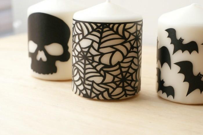DIY Vinyl Cutout Candles
