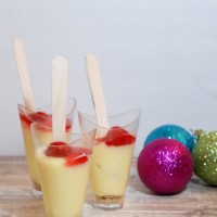 Holiday Party Peppermint Truffle Cheesecake Shooters