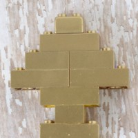 Gold Spray Painted Lego Christmas Tree Ornament
