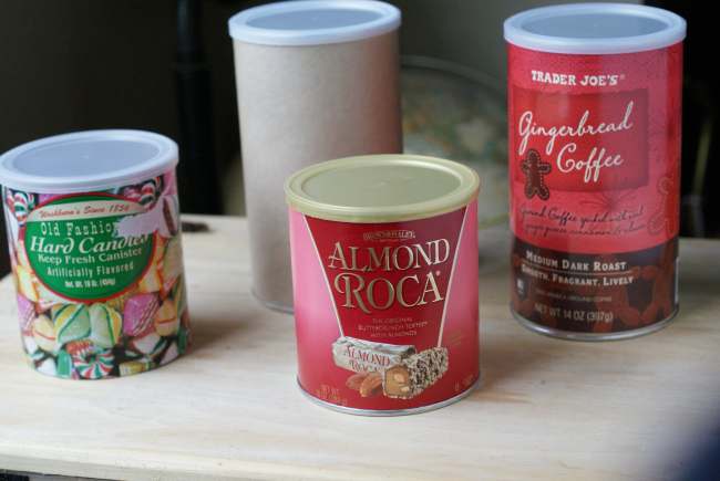 How to upcycle canisters into gift boxes for treats!
