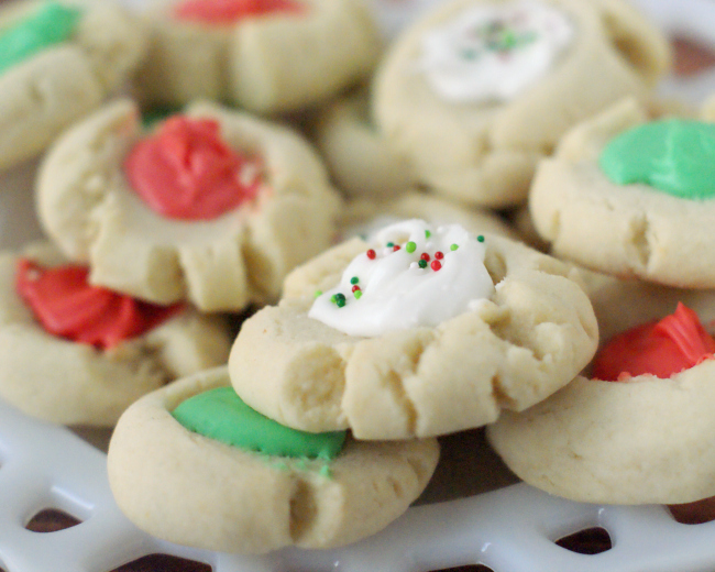Christmas Thumbprint Cookie Recipe