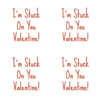 Clever Guy Friday: Stuck on You Valentines with Printable