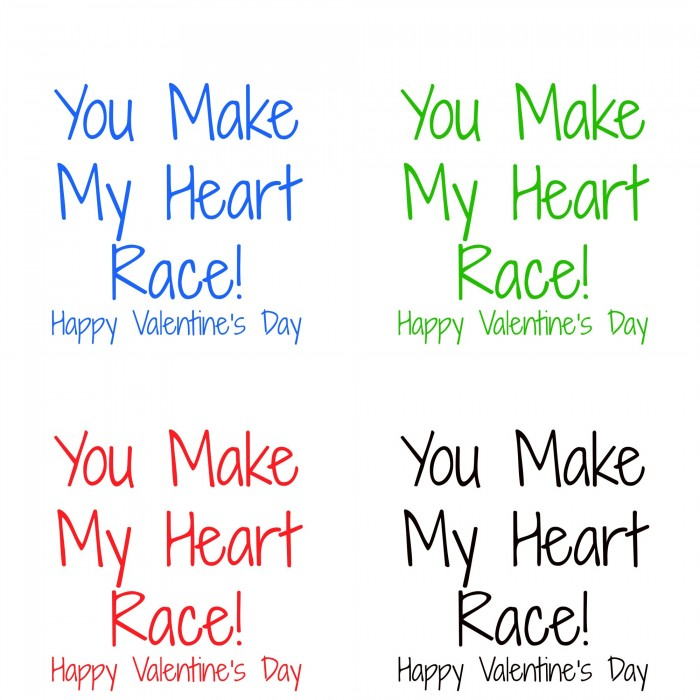 you make My Heart Race Free Printable
