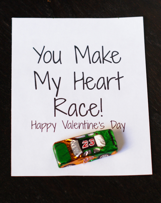 You Make My Heart Race Valentines Printables