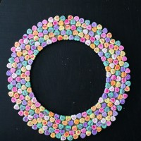 Valentine's Candy Heart Wreath