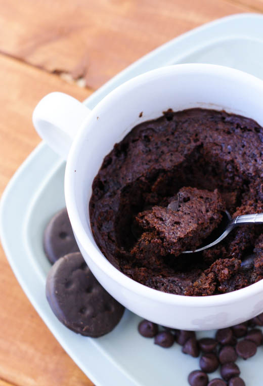 Thin Mint Brownies in a Mug