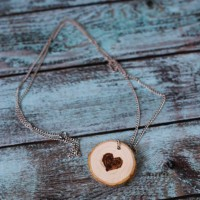Burned Wood Slice Jewelry