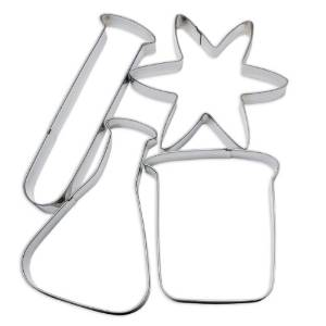 Mad Science Cookie Cutters (on Amazon)
