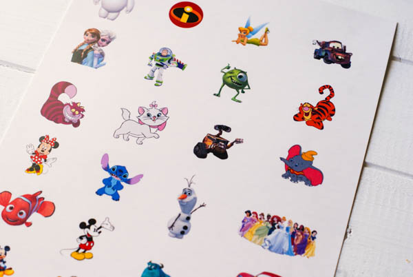 Disney Character Temporary Tattoos