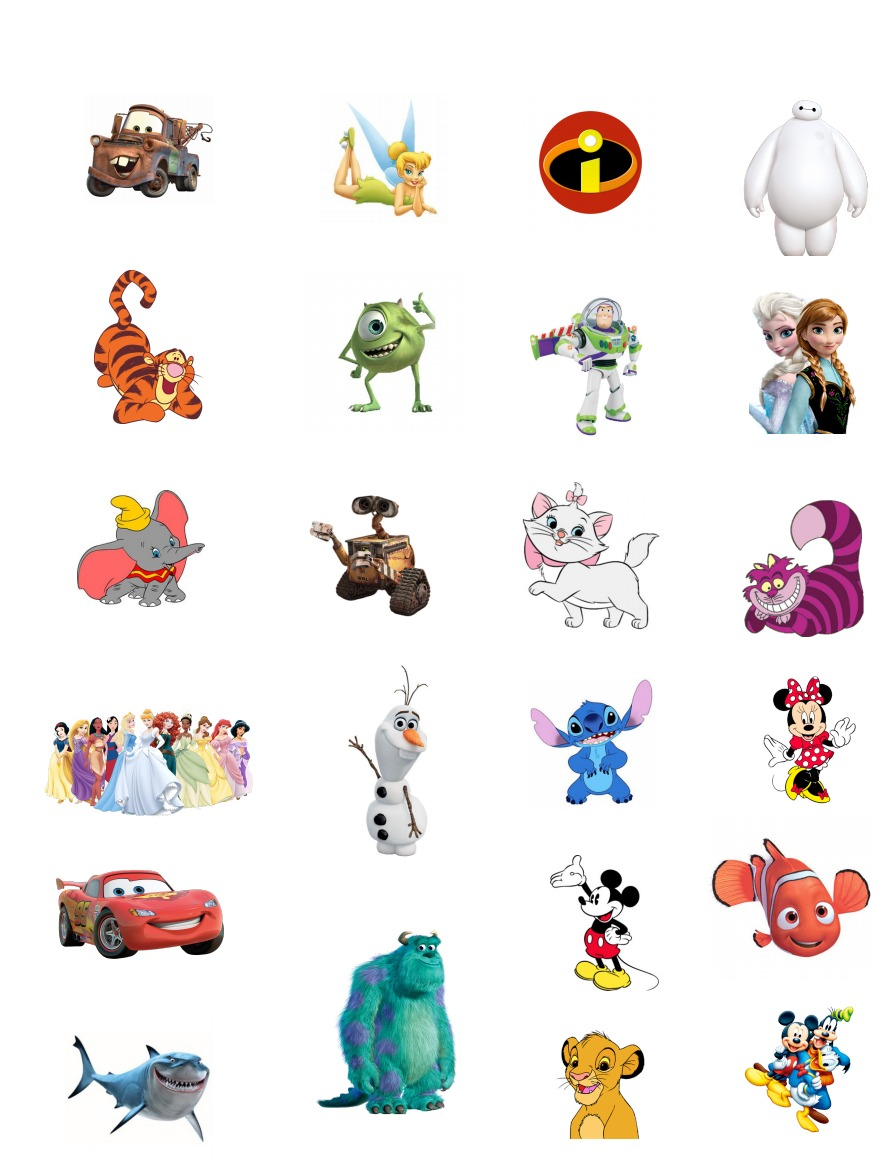 DIY Printable Disney Character Tattoos