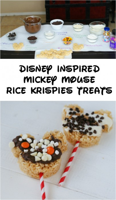 Disney Inspired Mickey Mouse Rice Krispies ~ Perfect for a birthday party!