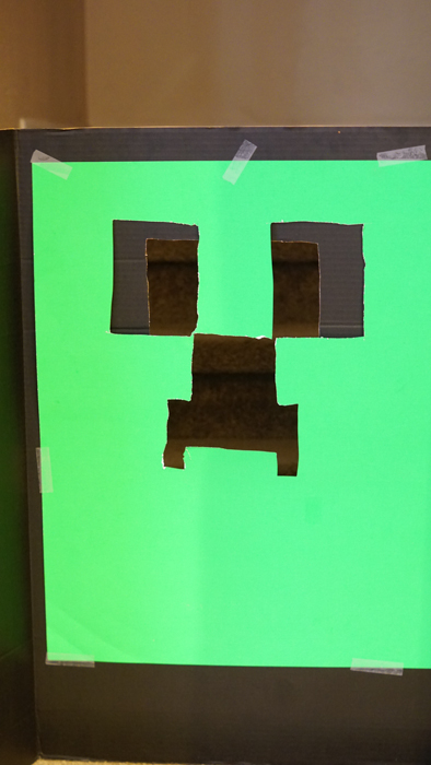 DIY Creeper game for Minecraft party