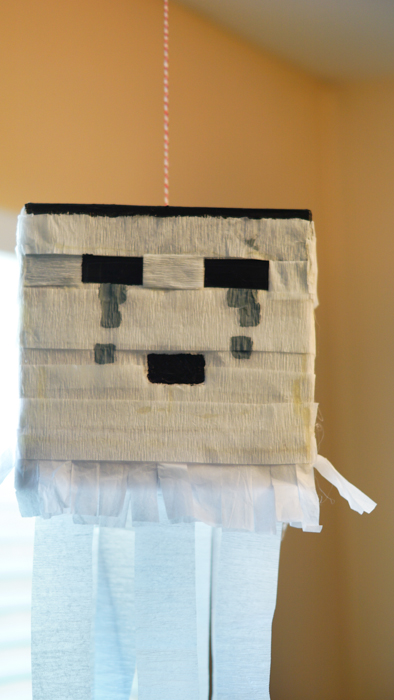 DIY Ghast Decoration for Minecraft party