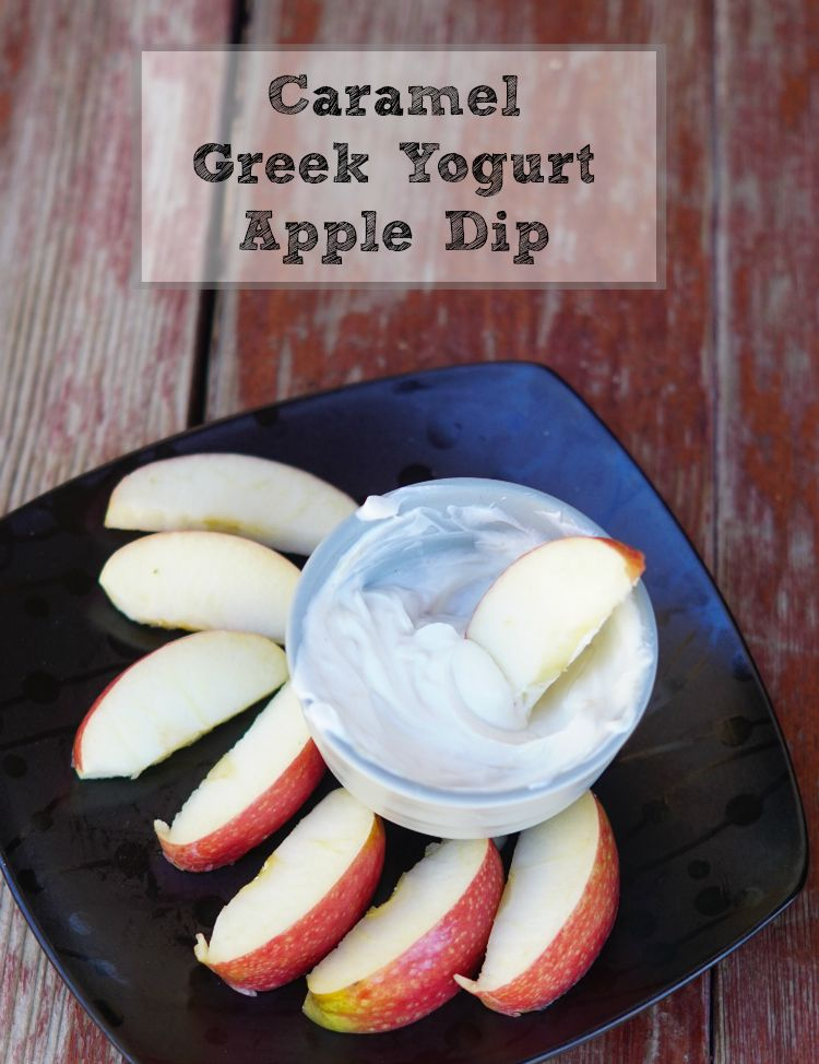 Easy Caramel Greek Yogurt Apple Dip