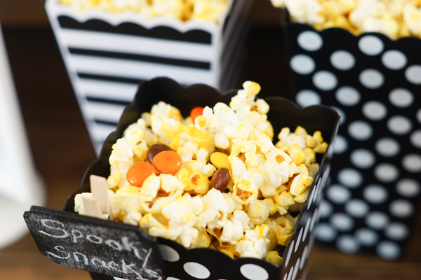 Black and White Halloween Party Snacks