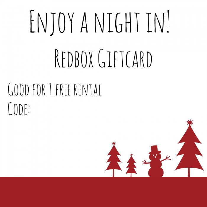 image about Printable Redbox Gift Card named Basic Do it yourself Xmas Reward ~ A Video Evening Inside - Good Purple Pirate