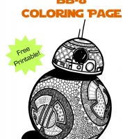 Free Printable Star Wars BB-8 Coloring Page