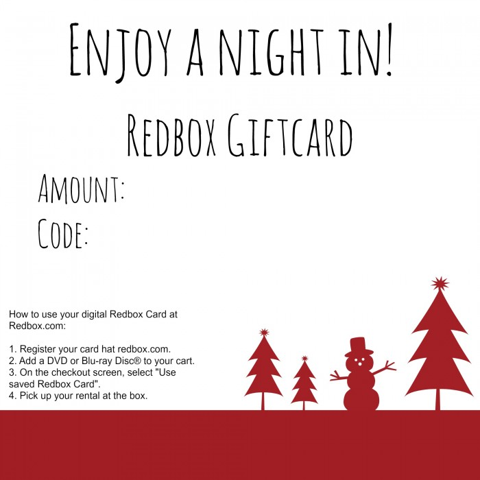 Redbox Giftcard Printable