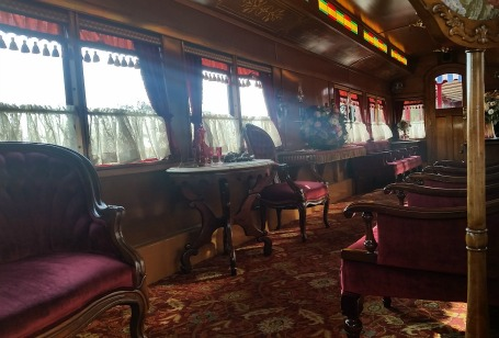 Disneyland Railroad, inside the Lilly Belle
