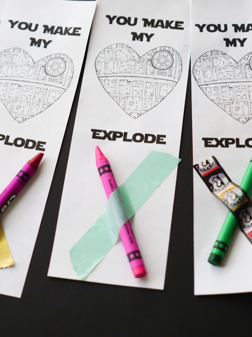 Star Wars Printable Valentine Bookmarks