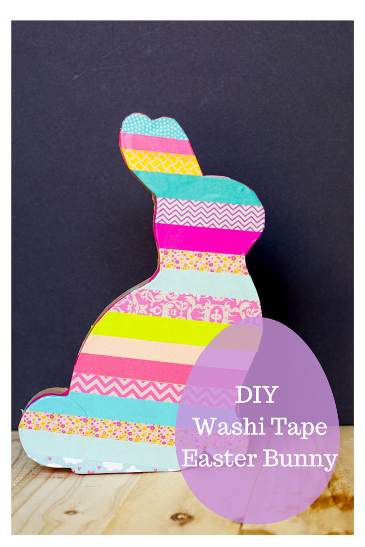 DIY Washi Tape Easter Bunny