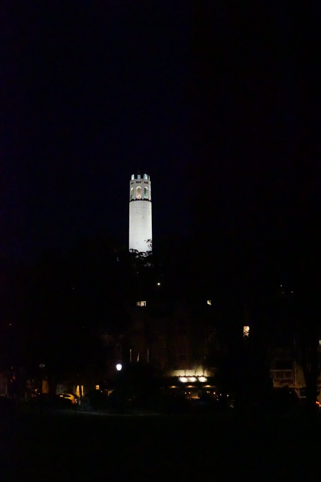 Free and Cheap Things to do in San Francisco Coit Tower at Night