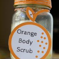 This DIY Orange Body Scrub is easy to make with only a few ingredients!