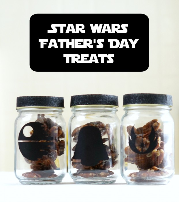 Star Wars Mason Jars for Father's Day with a Turtles Candy Recipe