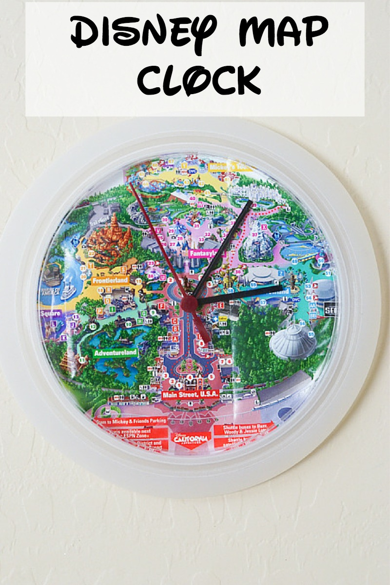 Turn your Disney map into a clock!