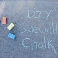 Make your own Sidewalk Chalk with this easy recipe!