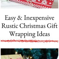 Easy & Inexpensive Rustic Christmas Gift Wrapping Ideas