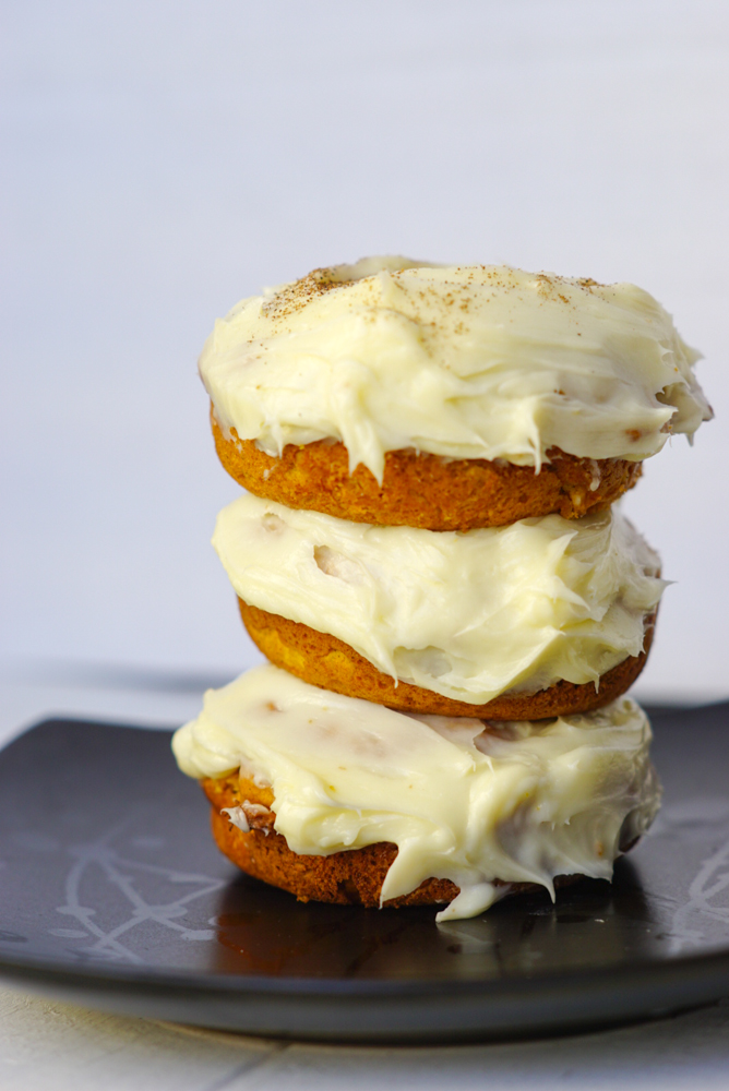 Pumpkin Cream Cheese Donuts